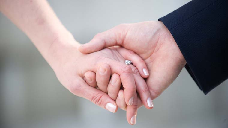 Wedding Holding Hands